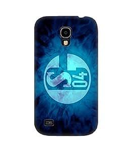 Galaxy S4 Funda Case 3D Cover Schalke 04 Collection Football Club Logo Print Photo Hard Plastic Protective Popular Design pour Woman