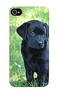 Awesome 4adcab92385 Suffraganemay Defender Tpu Hard Case Cover For Iphone 5/5s- Black Lab Puppy by heywan
