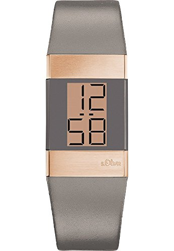 s.Oliver - Wristwatch, digitale Quartz, Leather