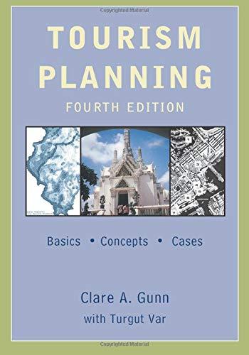 Tourism Planning  Basics Concepts Cases