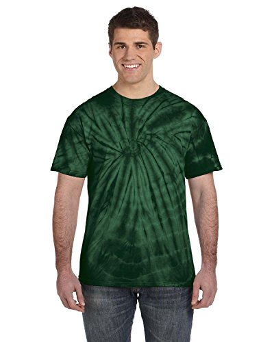 Tie-Dye 5.4 Oz., 100% Cotton Tie-Dyed T-Shirt (CD100)- Spider Green,XX-Large