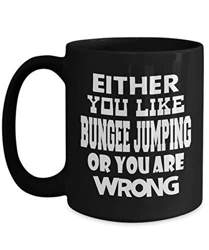 Bungee Jumping Mug | Black - Either You Like Bungee Jumping