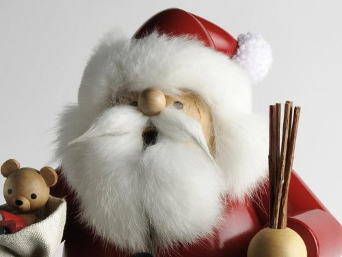 KWO Large Sitting Santa German Christmas Incense Smoker Handcrafted in Germany by Authentic German Erzgebirge Handcraft
