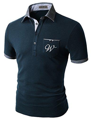 Doublju Mens Soft Fabric Sport-Tek Impact NAVY T-shirts,S