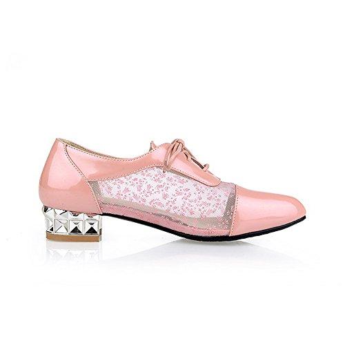 Balamasa Tacco Electroplate Zapatos Con Cordones De Malla Con Cordones, Rosa (rosa), 35 Eu