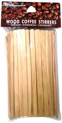 Economy Kitchen Accessory Wood Stirrers 150 Pack (Stirrers Wood)