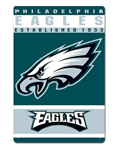 MamaTina Custom Philadelphia Eagles American Football Team Design Metal Tin Signs for Home Wall Decor Size 12x8 Inches