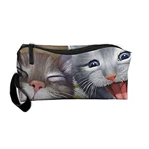 Travel Makeup Cats Selfie Cosmetic Case Organizer Portable Artist Storage Bag Toiletry Jewelry Pen Holder Stationery Pencil Pouch