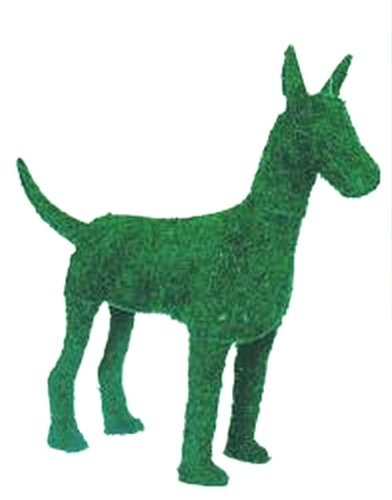 Great Dane 12 inches high w/ Moss Topiary Frame , Handmade Animal Decoration
