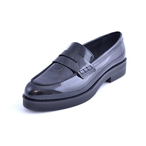 Soldini Chaussures Mocassins Femme Noir Brevet Fabriqué En Italie Taille 38