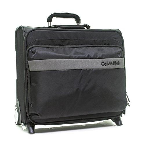 Calvin Klein Flatiron 3.0 Wheeled Pilot Case Rolling Duffel, Black, One Size by Calvin Klein