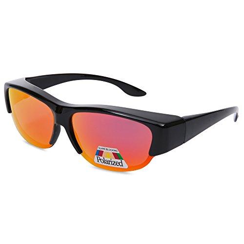 EYEGUARD Unisex Fashion Fit Over Polarized Lens Cover Sunglasses - Wear Over Prescription - Glasses Prescription Steampunk