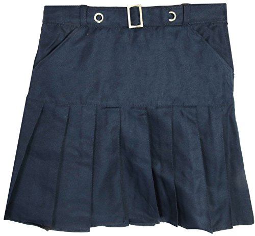 Beverly Hills Polo Club Girls School Uniform Belted Double Pleat Scooter, Navy, Size 12' ()