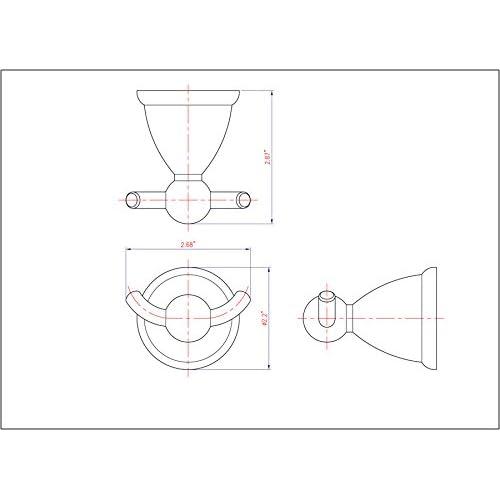 low-cost Astor Series Satin Nickel Double Robe Hook