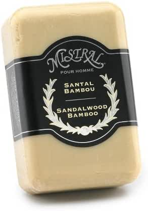 Mistral Men's Soap, Sandalwood Bamboo, 250 Grams