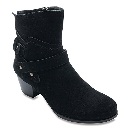 Brittany Nubuck Hommerson Leather Boots Ros Black Women's ExZwqOAU