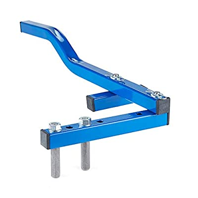 """Sonour Board Bender Floor Decking Tool - Single Arm Deck Board Straightener Bow Wrench Hardwood Flooring Jack Straightening Tool - Push & Pull - Extremely Strong Gripper Fits 2"""" Floor Joists - Blue"""