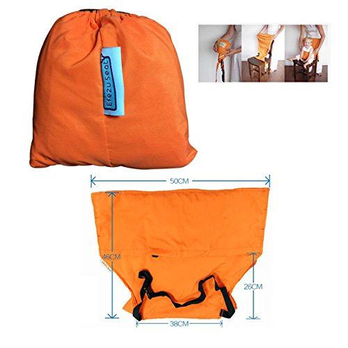 Wonpurs Baby Chair Belt Harness, Portable Travel Safety Belt Booster Feeding High Chair Seat Cover Sack Cushion Bag for Baby Kid Toddler (Orange) by Wonpurs (Image #1)