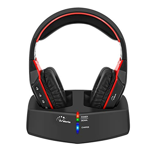 WallarGe Wireless TV Headphones Over-Ear Headset – 2.4GHz Headphones with Digital Stereo for TV Watching and Seniors,RF…