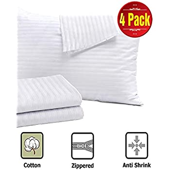 4 Pack Pillow Protectors Standard 20x26