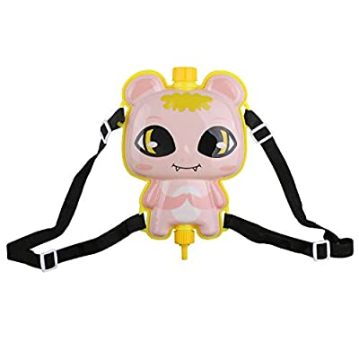 Young Buds Water Gun Cute Cartoon Image Squirt Water Backpack Water Shooter Game Toys Summer Outdoor Water Toys for Kids Large Capacity (Pink): Toys & Games