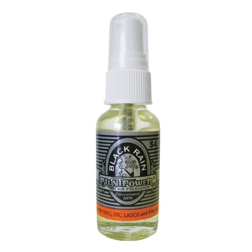 BluntPower 1 Ounce Glass Bottle Oil Based Concentrated Air Freshener and Oil for Burner, Black Rain