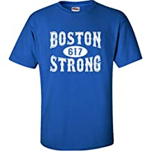 Go All Out Screenprinting Adult Boston Strong 617 T-Shirt