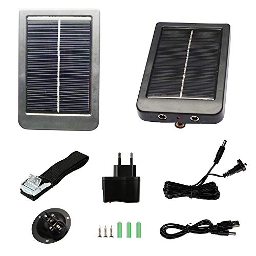 Trail Camera Solar Panel Kit – Waterproof Solar Charger with a 1500 mAH Rechargeable Lithium Battery – Outdoor Power System for Game, Hunting or Trail Cameras by CreativeXP – Save Money & Time