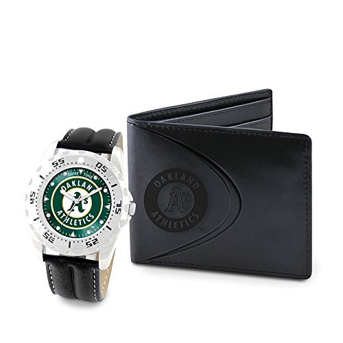 Game Time GTW-MLB-WWS-OAK Oakland Athletics MLB Mens Watch & Wallet Set