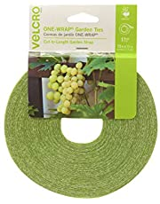 VELCRO Brand 90648 ONE-WRAP Supports for Effective Growing   Strong Gardening Grips are Reusable and Adjustable   Gentle Plant Ties   Cut-to-Length   75 ft by 1/2 in roll   Green, x