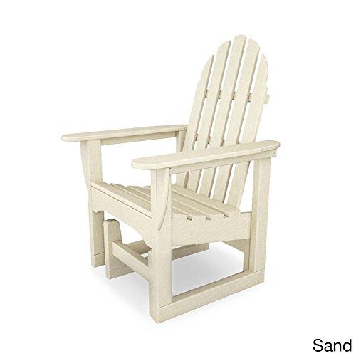 Polywood ADSGL-1SA Classic Adirondack Glider Chair, Sand