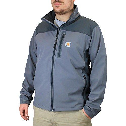 Soft Jacket Carhartt (Carhartt Men's Big & Tall Denwood Soft Shell Jacket,Charcoal/Shadow,Large Tall)