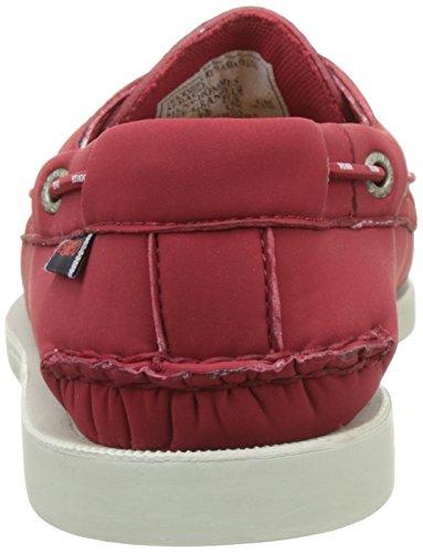 Sebago Docksides Ariaprene Slip On Zapatos Uk 8 Rojo