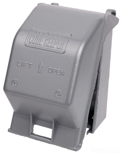 - Red Dot CKMUV Outlet Box While-In-Use Cover, Universal, 1 Gang, 3-1/4-Inch Inside Depth, Powder Coated