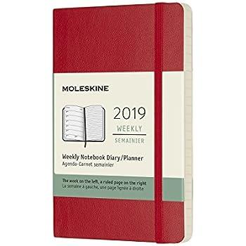 Amazon.com : Moleskine Denim Hard Cover 2019 12 Month Weekly ...
