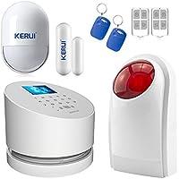 Wifi Alarm System,KERUI W2 GSM Landline Wireless Home Burglar Security System With Loud Outdoor Flashing Siren Auto Dialer DIY Kit