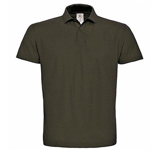 Cotone Uomo 5 amp;c 100 Polo T Id shirt Colletto Stock Da B Lavoro Marrone 5x Con 001 Manica Pacchetto Corta Piquet waOqpxX