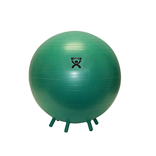 CanDo Non-Slip Inflatable Exercise Ball with Stability Feet, Green, 25.6  yoga ball with feet | 20 Minute Yoga with a Stability Ball 41Cn4Uq9UoL