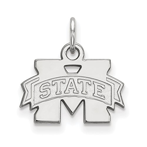 Sterling Silver LogoArt Mississippi State University XS Pendant