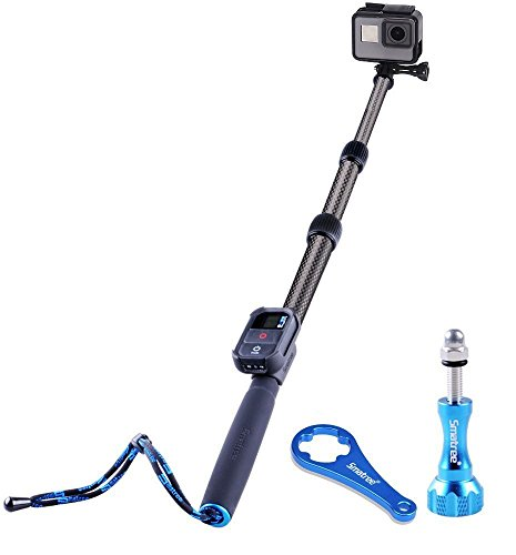 Smatree S2C Carbon Fiber Extendable Pole for GoPro Hero 7/6/5/4/3+/3/2/1/Session (WiFi Remote Controller is NOT Included)
