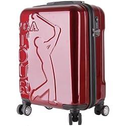 Kaybull PGA Tour Hard Case Spinner Luggage, Burgundy, 20-Inch