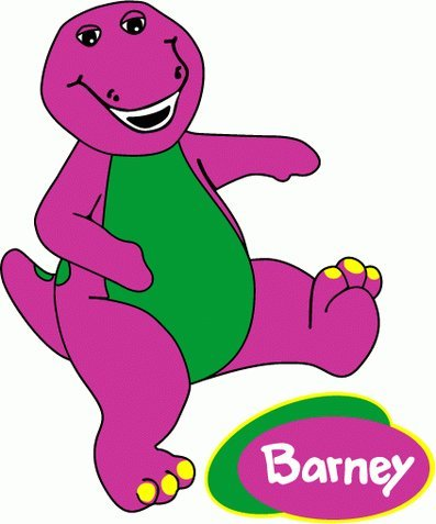 Barney Flats - Barney Cartoon Car Bumper Sticker 4