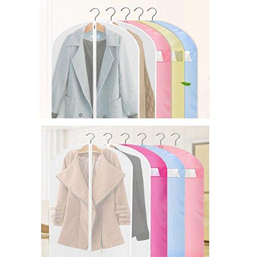 Pcs Protettore Spalla Vestito Copre Abbigliamento Antipolvere 5 Appeso a3 Sacchetto fPUUZ8Fxqw
