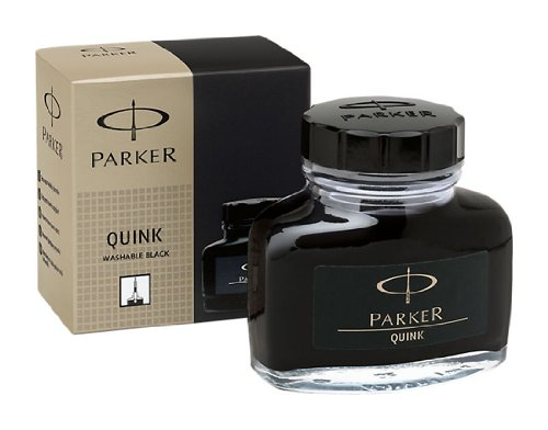 PARKER QUINK Ink Bottle, Black, 57 ml