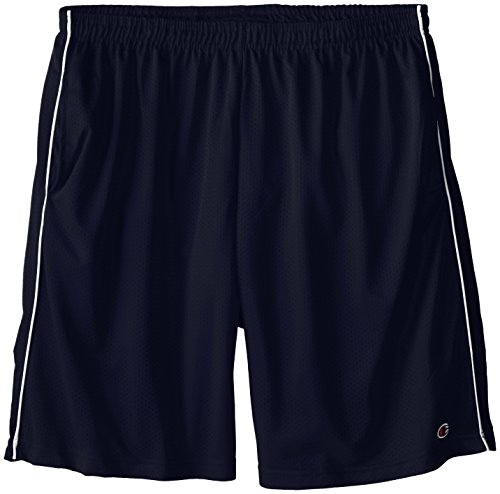 Champion Men's Big-Tall Mesh Shorts with Piping, Navy, ()