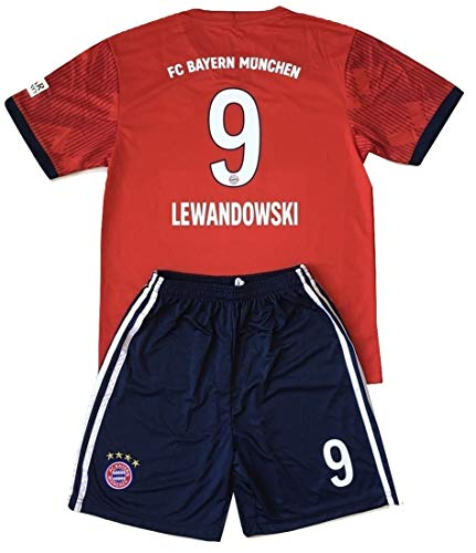 Gadzhinski2017 Lewandowski  9 Bayern Munich 2018-2019 Kids Youths Home  Soccer Jersey   Shorts (9-10 Years Old) 25471133c