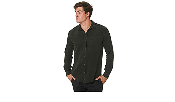 Swell Line Up Cord Mens Shirt Long Sleeve Forrest All Sizes