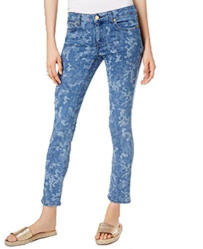 Michael Michael Kors Woman Classic Pant - Michael Kors Izzy Printed Skinny Jeans (Indigo, 4)