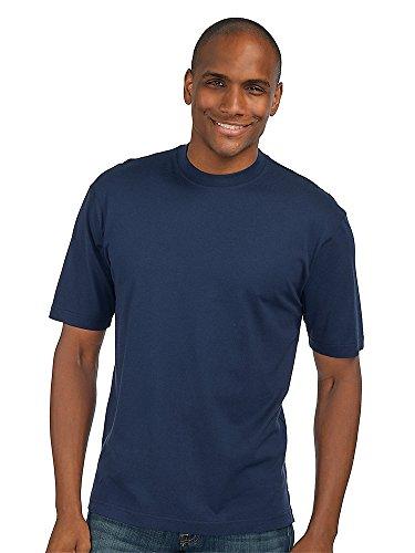 Paul Fredrick Men's Cotton \ Silk Crewneck T-shirt Navy Large Silk Cotton Crewneck T-shirt