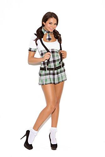 School Girl Costume Amazon (Elegant Moments Women's Prep School Priss, White/Plaid, Small)